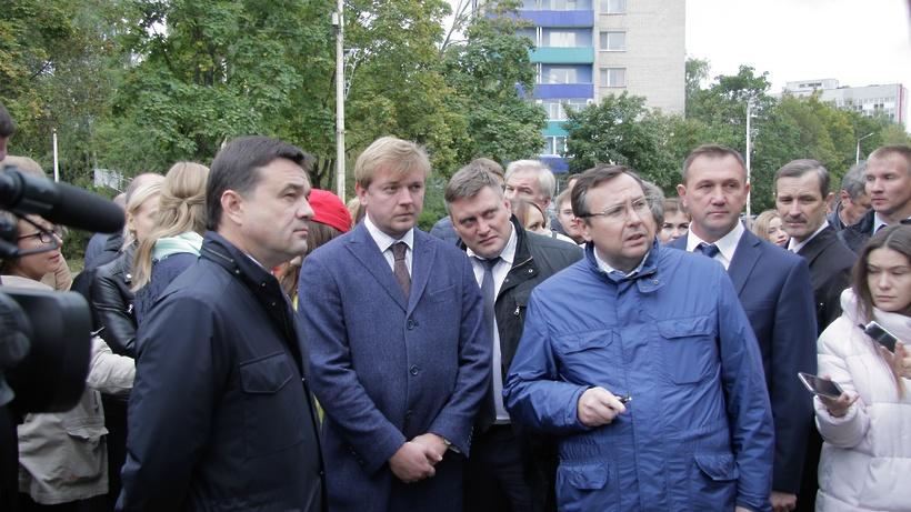 Дубну посетил губернатор Московской области Андрей Воробьев